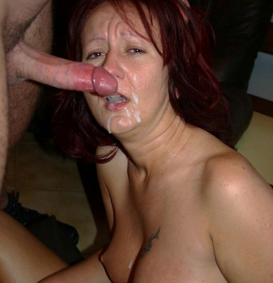 older women eating cum